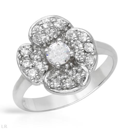 Ring With 2.55ctw Cubic zirconia Made in 925 Sterling silver (Size 7)