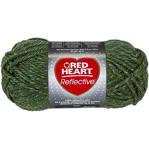 Coats Yarn Red Heart Reflective Yarn, Olive front-133752