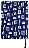 宮本 手ぬぐいの文庫本カバー 『レトロ小紋てぬぐいのブックカバー』 お父さんの書斎 7385 30×16cm