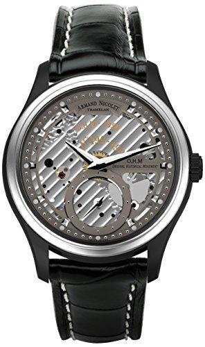 armand-nicolet-herren-mechanische-armbanduhr-mit-grauem-zifferblatt-analog-anzeige-und-schwarz-leder