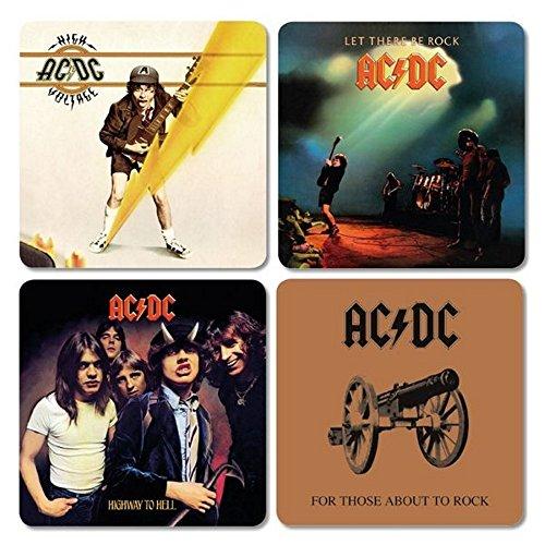 AC DC-sottobicchiere Coaster Set di 4-Cover Mix