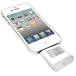 Mobilegear Mini Mobile Alcohol Tester & Breath Analyzer for Apple iPhone 5/5s/5c/6 & 6 Plus