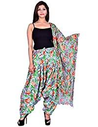 Fashion Store Women Cotton Printed And Plian Multi-Coloured Patiala Salwar With Dupatta Combo Of Assorted Color...