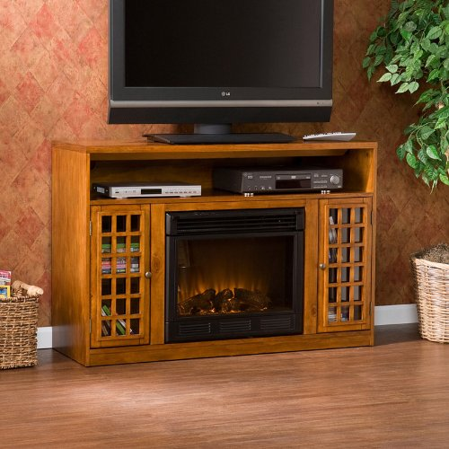 Narita Media Electric Fireplace (Glazed Pine) photo B0057PN2MQ.jpg