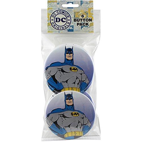 """Button set DC Comics Batman Close-Up Round 6 Individual Loose Buttons, 3"""""""