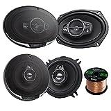 Car Speaker Package Of 2x Kenwood KFC-6995PS 1300-Watt 6x9