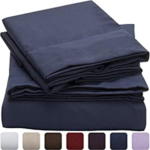 #1 Duvet Cover Sets - SALE - HIGHEST QUALITY 100% Brushed Microfiber 1800 Luxury Bedding Collections - With Pillow Shams - LIFETIME MONEY BACK - Mellanni (Full / Queen, Royal Blue)
