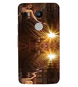 ColourCraft Angel Design Back Case Cover for LG GOOGLE NEXUS 5X