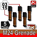 M24 Overmolded Grenade 5 Pack - Custom LEGO Minifigure Pieces