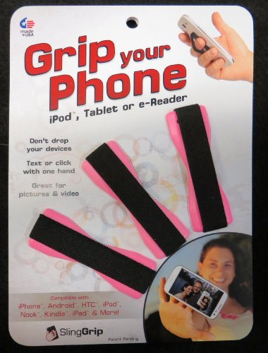 Special Factory Sale Pricing 3 Pack Slinggrip - Grip Your Phone, Ipod, Tablet Or E-Reader - Pink front-296132