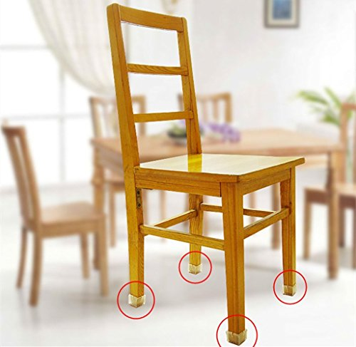 Syrinx Square 47x47mm Transparent Silicone Gel Table Chair Leg Caps Feet Pads Furniture Table