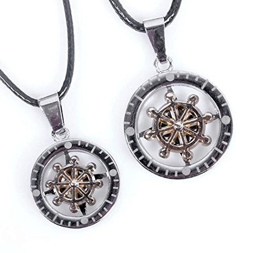 Red Dandelion Personalize Lovers Compass Rotatable Pendant Necklace