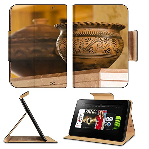 Amazon Kindle Fire HD 8.9 Flip Case folk art clay pot IMAGE 26621935 by MSD Customized Premium Deluxe Pu Leather generation Accessories HD Wifi Luxury Protector (Amazon Crock Pot Wifi compare prices)