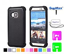 buy Htc One M9 Case,Htc M9 Case,Supmax™ *New Style* *Silicone+Pc* [Full-Body Protection] [Scratchproof] [Shock Proof] [Drop Proof] Impact Resistant Hard Shell Case Cover Dual Layer With Upscale Silicone Shock Absorbent [Gifts(Supmax Brand)Dust Plug+Screen Wip