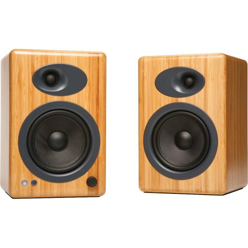 Audioengine A5+ Powered Multimedia Speakers Pair in Solid Bamboo Black Friday & Cyber Monday 2014