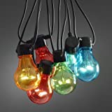 20x Multicoloured LED Festoon lights - Clear bulbs - E27 - indoor/outdoor - 2379-500