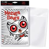 "Ultra PRO Manga Size 6 x 7-5/8"" Comic Bags (100 Count Pack), Small, Clear"