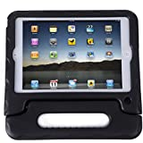 HDE iPad Mini Kids Case Shockproof Handle Stand Cover for Apple iPad Mini 2/3 Retina (Quilted Black)