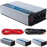 VOLTRONIC® REINER SINUS Spannungswandler 12V auf 230V, 3 Varianten: 1000 – 2000 Watt, e8 Norm