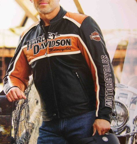 Buy Harley Davidson Mens Classic Cruiser Leather Jacket. New for 2008. Midweight leather with all the features of Harley leather jackets. Zippers, hand-warmer pockets, snap tabs and more. 98118-08VM