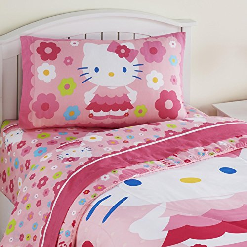 Hello-Kitty-Daisy-Dance-Twin-3-Piece-Sheet-Set