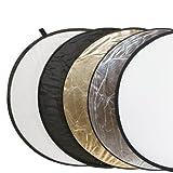 """Delamax 5in1 Faltreflektoren Set - 107cm � - gold, silber, schwarz, wei� und Diffusorvon """"Delamax"""""""