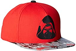 Star Wars Boys\' Episode 7 Kylo Ren Baseball Cap with Reflective Brim, Red, One Size