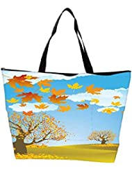Snoogg Autumn Background Vector Waterproof Bag Made Of High Strength Nylon