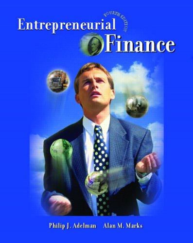 Entrepreneurial Finance (4th Edition)