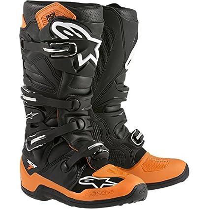 Alpinestars tech-bottes de motocross noir/orange 7