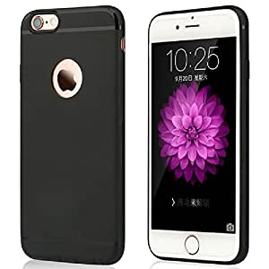 TS LifeStyle iPhone 6/6S Case (4.7 Inch) Protective SOFT-TPU Scratch Protection Finished Hard Cases Cover (black)