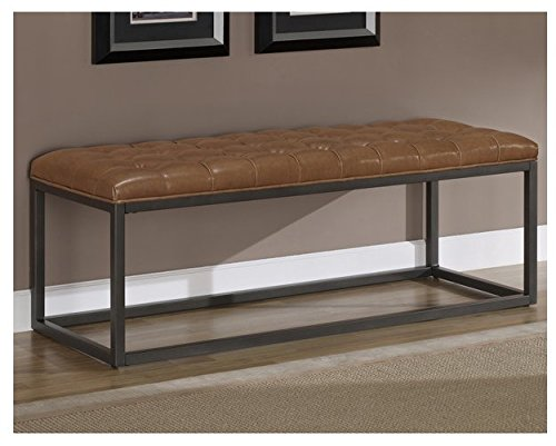 Where I Find Cheap Entryway Bonded Leather And Metal Bench