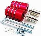 エンジンガード フレームスライダー 汎用 品 各 色 各 車種 取り付け (赤)