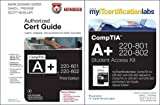 img - for CompTIA A+ 220-801-220-802 Authorized Cert Guide with MyITCertificationLab Bundle book / textbook / text book