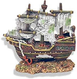 Exotic environments sunken pirate shipwreck for Aquarium decoration shipwreck