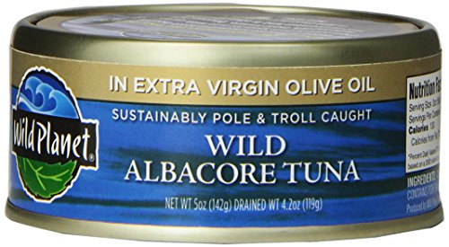 Wild Planet Wild Albacore Tuna in Extra Virgin Olive Oil, 5 Ounce Can (Pack of 12) (Canned Tuna In Olive Oil compare prices)