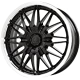 "Verde Custom Wheels Regency Black Wheel Machined Lip (17x7.5""/5x115 mm)"