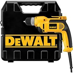 DEWALT DWD110K  7.0 Amp 3/8-Inch VSR Pistol Grip Drill Kit with Keyless Chuck