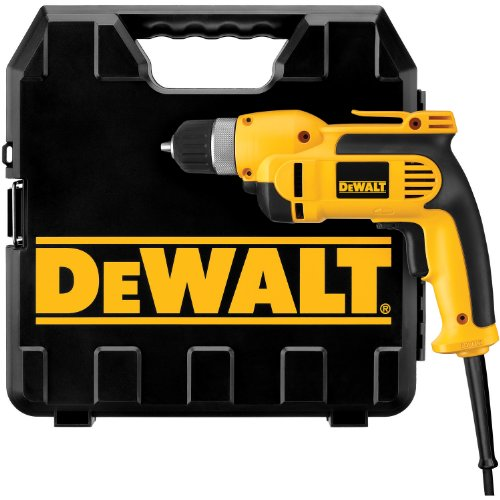 DEWALT DWD110K  7.0 Amp 3/8-Inch VSR Pistol Grip Drill Kit with Keyless Chuck
