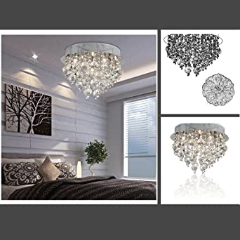 lampadario gocce luce light illuminazione lampadari moderni lampada da tavolo di cristallo in. Black Bedroom Furniture Sets. Home Design Ideas