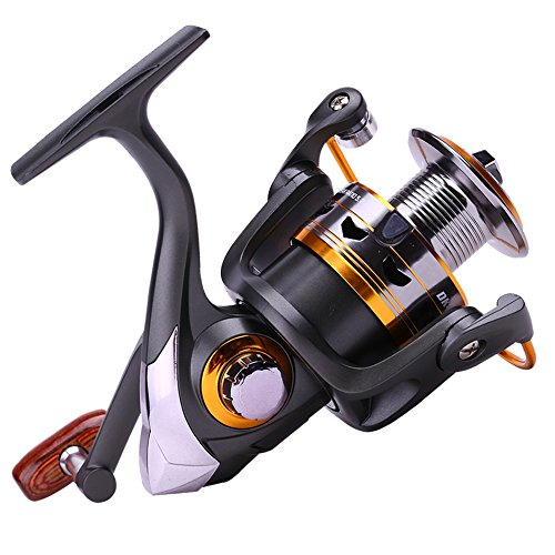 Sougayilang-Spinning-Fishing-Reels-with-Leftright-Interchangeable-Collapsible-Wood-Handle-Powerful-Metal-Body-521511-Gear-Ratio-Smooth-11BB-For-Inshore-Boat-Rock-Freshwater-Saltwater-Fishing
