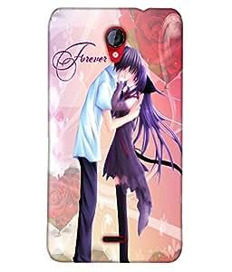 Fuson Love Couple Back Case Cover for MICROMAX UNITE 2 A106 - D3845