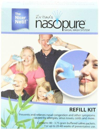 Nasopure Refill Kit - 40 buffered salt packets (Neti Pot Rhino Horn compare prices)