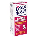 Little Noses Saline Spray/Drops for Dry for Stuffy Noses, 1-Ounce (30 ml) (Pack of 6)