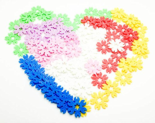 Brain Flakes,Learning Building Snowflakes Blocks Educational Toys for Fine Motor Skills Development Games Best Toys Gift for Over 5 Year Old (Leaf) (Brain Development Games compare prices)