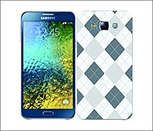 Galaxy Printed 1805 Argyle Grey and White Hard Cover for Samsung GRAND I9082