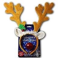 Reindeer Antlers & Light-up Blinking…