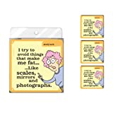 Tree-Free Greetings NC37812 Aunty Acid 4-Pack Artful Coaster Set, Scales and Mirrors