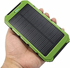 eyeCam DUAL 20000 mAh Solar Ladegerät, spritz & staubresistent inkl superheller Taschenlampe, neue Version 2016, 2A und 1A - Universal externes Akku Batterie Netzteil Power Charger für Smart Phone Handys MP3 Player Navi Ebook reader PDA mini Speaker iPhone, iPad, iPod, Samsung Galaxy, Motorola, HTC, LG, Nokia, Sony Ericsson, Samsung Tab Farbe: Grün (354)