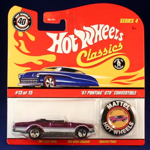'67 PONTIAC GTO CONVERTIBLE (PURPLE) 2007 Hot Wheels Classics 1:64 Scale SERIES 4 Die Cast Vehicle